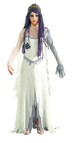Rubies Womens Corpse Bride Zombie Wedding Gown Halloween Adult Fancy Costume