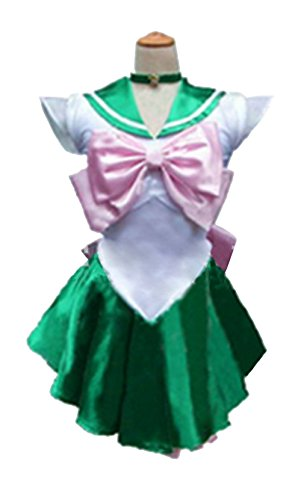 [Dillian Womens Sailor Moon Mars Costume Cosplay Party Dress & Gloves,Green,S] (Dorothy The Dinosaur Costumes)