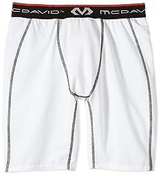 McDavid Compression Shorts, White, XX-Large