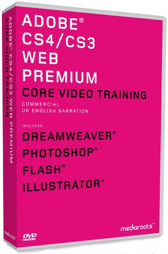 Adobe Web Premium CS4  &  CS3 Training Bundle (MAC/PC DVD)