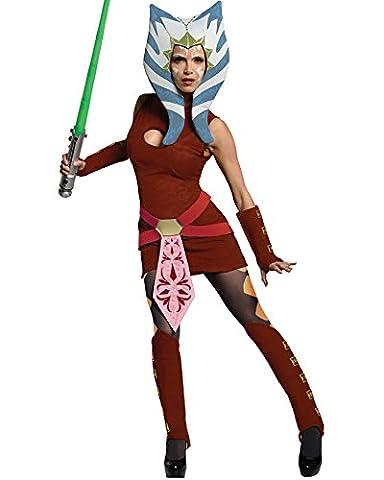 Star Wars Clone Wars Ahsoka Deluxe Womens Costume (Ashoka Film Kostüme)