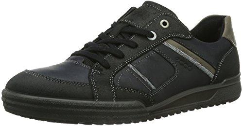 ECCO Fraser Sneaker a Collo Basso, Uomo, Nero(Black/Black/Warm Grey 54997), 42