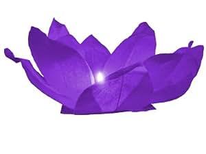 Fleur de Lotus flottante de l'eau lanternes, Farbe wählen:lila