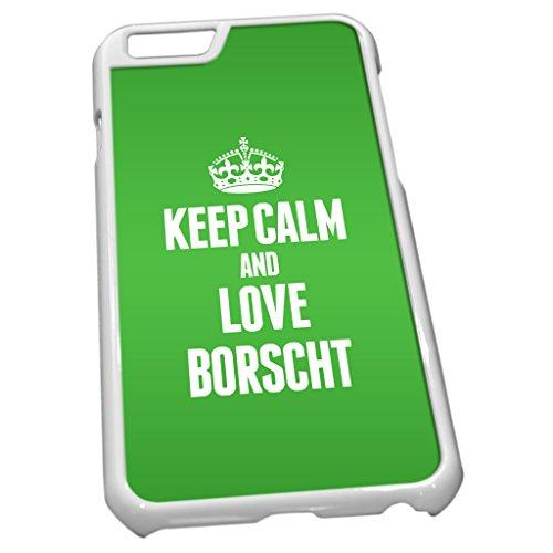 Blanc Coque pour iPhone 60845Vert Keep Calm and Love Bortsch