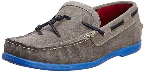 Famozi Famozi Men's Leather Boat Shoes (Multicolor)