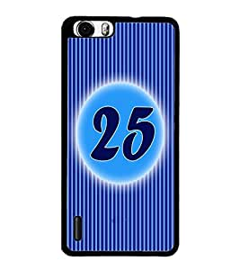 PrintDhaba Numerology Number 25 D-2583 Back Case Cover for HUAWEI HONOR 6 PLUS (Multi-Coloured)