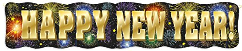 4.5ft Fireworks New Years Jointed Banner - 1