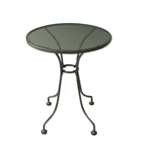 Streckmetall – Tisch 60cm rund eisengrau, wetterfest bestellen