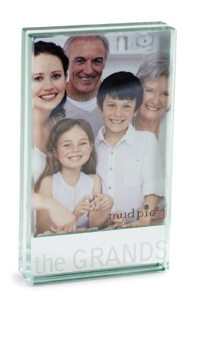 "Mud Pie Clear Glass Frame, The Grands, 4 1/4""X2 1/2""X3/4"""