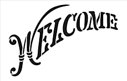 Welcome Word Stencil - Elegant Country Arched - 14\