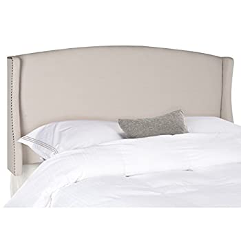 Safavieh Austin Taupe Linen Upholstered Wingback Headboard (Queen)