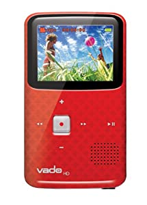 Creative Labs Vado VF0624-RD HD Pocket Video Camcorder 3rd Generation, 120 Minutes (Red) - NEWEST MODEL