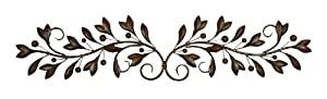 Deco 79 Metal Wall Decor, 48-Inch by 9-Inch