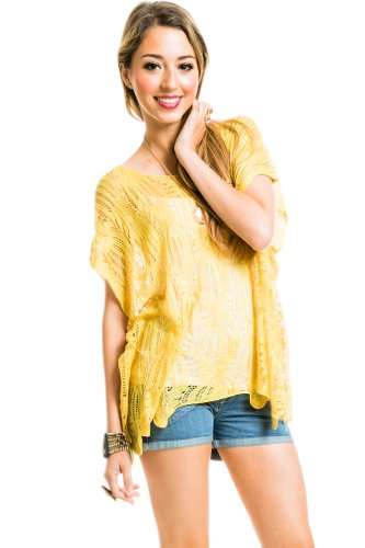 Loose Knit Sleeveless Sweater Mustard