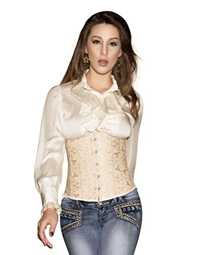 Jemis Women' s Fashion Sexy Vintage Push Up Underbust Corset Bustier