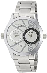 Giordano Analog White Dial Mens Watch - 60056 DTM (P6867)