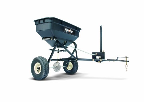 Agri-Fab 45-0215 100-Pound Max Tow Behind Broadcast Spreader, Black