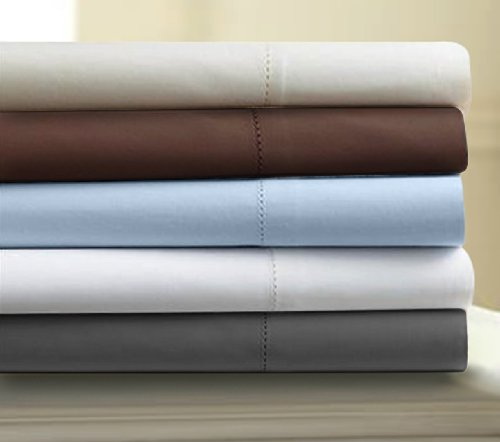 count egyptian cotton sateen deep pocket sheet set queen white
