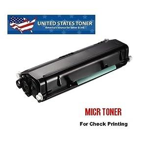 "MICR Lexmark E260 E260d E260dn E260dt E260dtn E360 E360d E360dn E460 E460dn E460dtn E460dw E460dtn United States Toner brand MICR Toner Cartridge for Check Printing 3.5K ""We Specialize in MICR Toner Cartridges."" Warranty valid when purchased through United States Toner direct!"