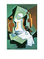 Especial Arte Lienzo Bottle and fruit bowl - Juan Gris Multicolor