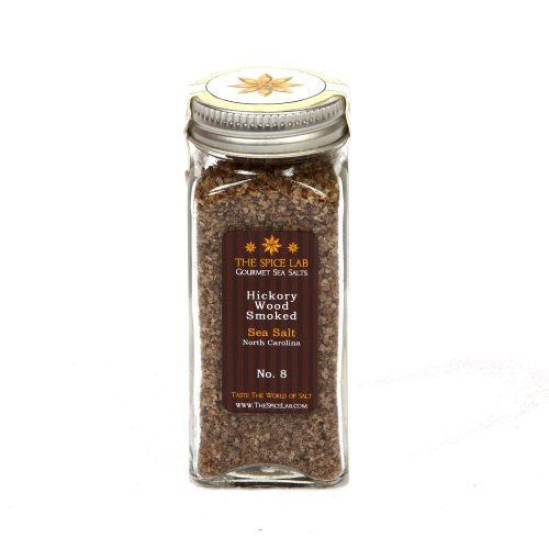 The Spice Lab Hickory Wood Smoked sea Salt, True BBQ, 1-Count Package
