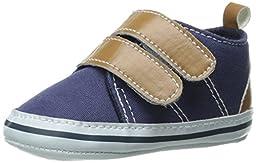 Luvable Friends Canvas Hook & Loop Boys Shoes (Infant), Navy, 12-18 Months M US Infant