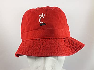 University Of Cincinnati Adult L/xl Red Fishing Bucket Cap New By Top Of The World