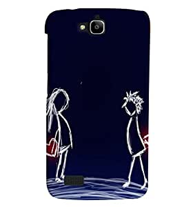 Generic Back Cover For Huawei Honor Holly Mobile (Multicolor)