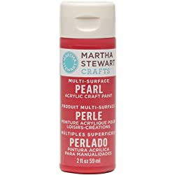Martha Stewart Crafts Multi-Surface Pearl Acrylic Craft Paint in Assorted Colors (2-Ounce), 32113 Holly Berry