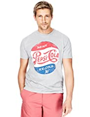 Blue Harbour Cotton Rich Pepsi-Cola Print T-Shirt