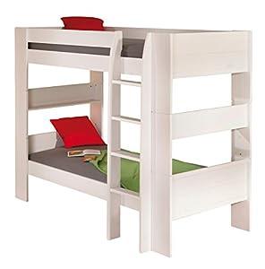 Letto a castello singolo legno bianco divisibile per camera ragazzi dream well3 casa - Letto castello amazon ...