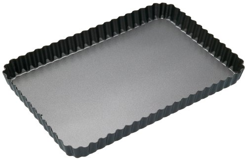 Master Class Non-Stick Loose Base Fluted Rectangular Flan / Quiche Tin 12