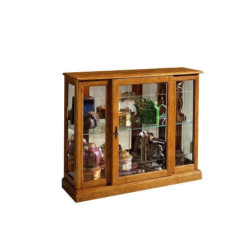 Home Meridian International Curio Console, 40 By 13 By 33-Inch, Medium Brown front-982050