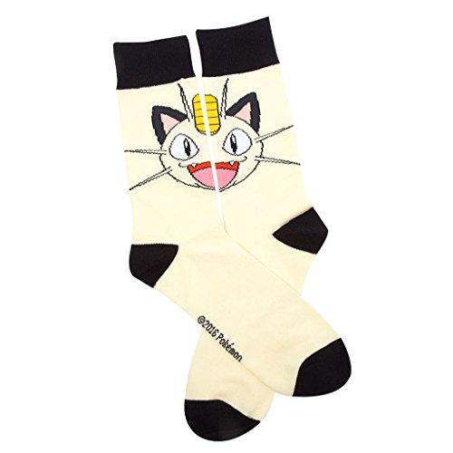 Oficial-de-hombres-de-Pokemon-Meowth-carcter-equipo-estilo-novedad-calcetines-tamao