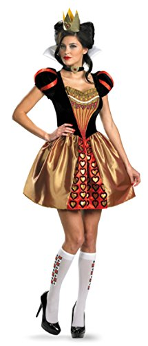 Disguise Womens Disney Alice In Wonderland Sassy Red Queen Halloween Costume