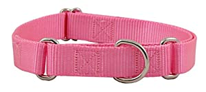 Country Brook Design Martingale Heavyduty Nylon Dog Collar-Pink-M