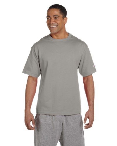 Champion 7 oz Cotton Heritage Jersey T-Shirt in Oxford - Large (Champion 7oz compare prices)