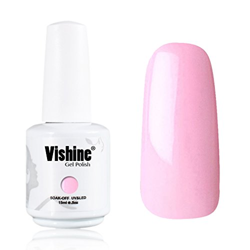 Vishine-Gelpolish-Lacquer-Shiny-Color-Soak-Off-UV-LED-Gel-Nail-Polish-Professional-Manicure-Light-Pink1532