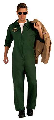 Forum Novelties Men's Aviator Jumpsuit Pilot Costume,