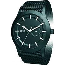 Obaku Unisex V124 V124GBBMB Black Stainless-Steel Quartz Watch with Black Dial