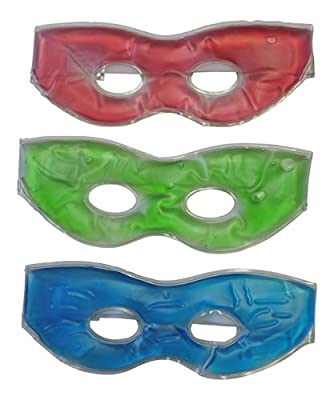 3 Pack Soothing Therapeutic Gel Eye Masks-hot or Cold-velcro Strap Relieve Stress and Tension