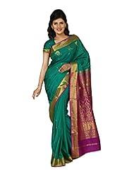 Paaneri Royal Green Color Art Silk Saree With Elaborate Pallu-14103015703
