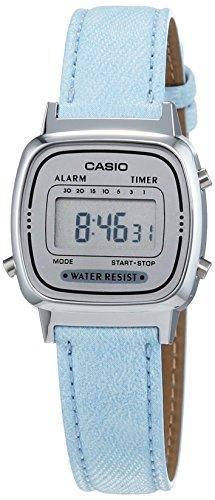 Casio LA670WEL-2AEF - Reloj de mujer con correa de piel, color azul
