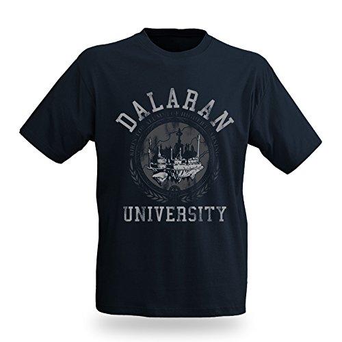 World of Warcraft - Daralan University T-Shirt - Girocollo con stampa - Blu - XXL