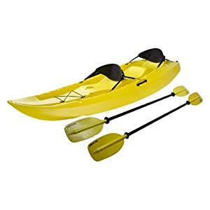 Lifetime Manta Tandem Kayak with Paddles and Backrests (Yellow, 10-Feet) by Lifetime Products