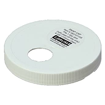 Carlisle 38310110S Plastic Snap Cap for 1 gal. Jar with Peel-off Lid, 110 mm Dia. (Case of 12)