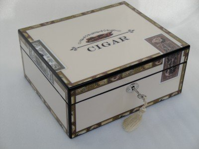 Humidor hold 25 cigars high gloss lock
