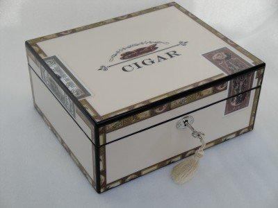Humidor hold 25 cigars high gloss lock