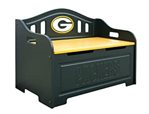 Green Bay Packers Kids Furniture Storage Toy Bench by Fan Creations