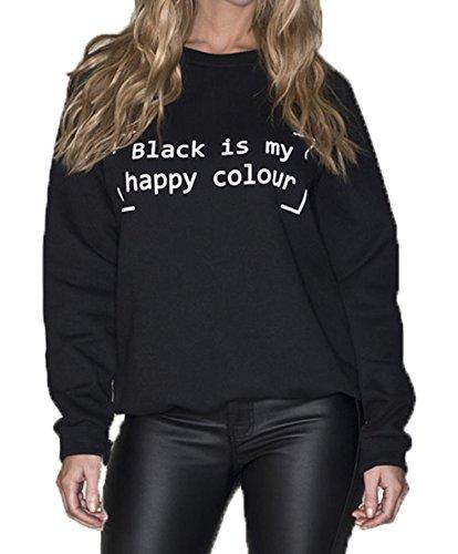 Fast Fashion Frauen Sweatshirt Pop Legende Adele Hallo Slogan Black Is My Happy Colour Gedruckten Top Picture